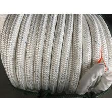 La fibra química de las trenzas dobles amarra el cable de la cuerda del amarre, poliéster mezclado, cuerda de nylon
