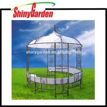 Cadre extérieur en acier rond en forme de patio jardin gazebo