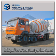 Camion de mélangeur de béton de benz nord de 12 mètres cubes