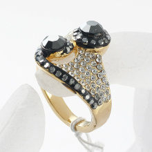 Gold Plated fashion rhinestone rings for women gold jewelry wholesale ring 2014 jewellery
