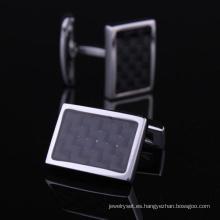 Popular de latón plata camisas gemelos (Hlk30510)