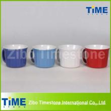 Taza de sopa de cerámica de 20oz con tapa de plástico