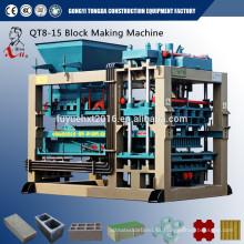 QT10-15 matéria-prima para blocos de pavimentação fazendo máquina para venda