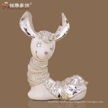 escultura material de la oveja de la historieta del polyresin del adorno casero de la alta calidad