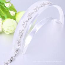 Наиболее популярные белое золото запонки персонализированные браслеты Рождественский подарок для женщин