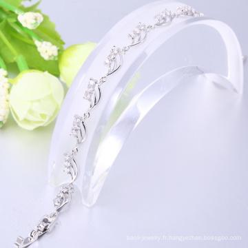 Le plus populaire bracelet en or blanc personnalisé bracelets cadeau de noël pour les femmes