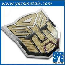 maßgeschneiderte modifizierte Auto Transformatoren Auto Aufkleber, benutzerdefinierte Metall Auto Logo mit Design