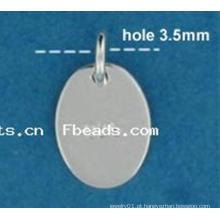 2015 Gets.com personalizado gravado prata jóias tags, oval tag