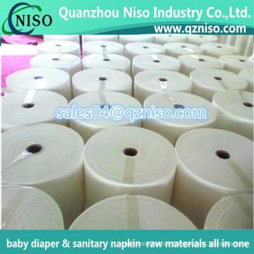 La mejor tela no tejida hidrofílica suave de los PP Spunbond de la calidad para el pañal del bebé