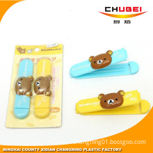 2pcs Rilakkuma Bear Home Kitchen Food Snacks Chips Plastic Bag Seal Sealing Clip