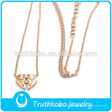 Truthkobo Diseño Único Estilo China Oro Rosa Casarse Compromiso Regalo Colgante Collar de joyería para Mujeres