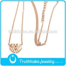 Truthkobo design único estilo china rose gold casar presente de noivado pingente de colar de jóias para as mulheres