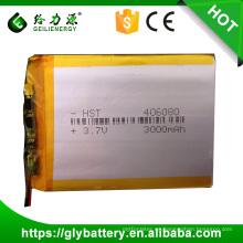 Batería recargable del polímero del Li del OEM Alta precio de fábrica de las baterías del li-ion de la seguridad 3.7v 406080 3200mah