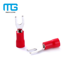 Copper Red Tin Plating Insulated Spade Terminals Of Electric