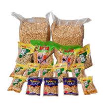 Geröstete und gesalzene Erdnuss in Schüttgut und Zinn