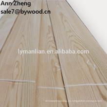 Rebanado Tipo de corte Chapa de madera de roble rojo natural para puerta