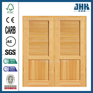 JHK Panel Structure With Wooden Louver Bi-Folding Door