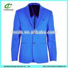 Европейский ярко-синий блейзер куртки на 2015 год