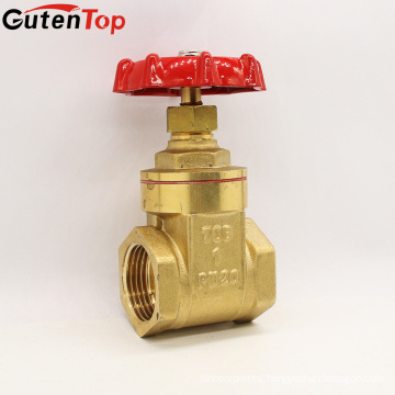 Gutentop Made In Italy Big Port DN20 Brass Gate Valves With Iron Or Brass Stem