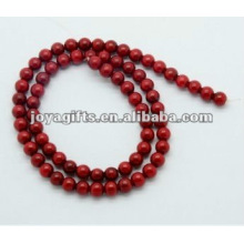 6MM Red Coral Round Beads