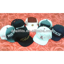 Sunshine printing snapback hat with embroidery logo cap