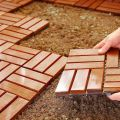 Factory best quality outdoor wood deck tiles