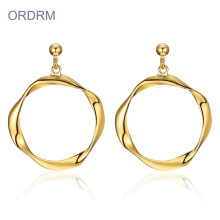Large Gold Twisted Hoop Earrings For Women