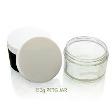 Le plus populaire vente chaude cosmétique en plastique 150g PETG Cream Jar