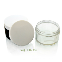 Mais Popular Hot Sale Plástico Cosméticos 150g PETG Creme Jar