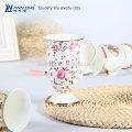 Unique Design Décoratif Personnalisé Fine Ceramic Bone China Coffee Mug