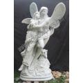 Estatua de piedra de mármol tallado ángel de la escultura para la decoración del jardín (SY-X1718)