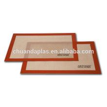 Nuevos forros de silicona de la fibra de vidrio de la hoja de la hornada de encargo para las galletas Opción de la calidad