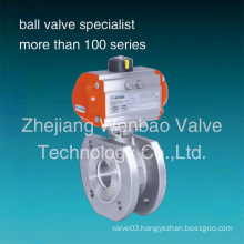 Wb-66 Wafer Ball Valve with Pneumatic Actuator Pn16