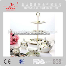fine bone china tea set bulk thin wave cup saucer cake stand wholesale