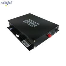 Video del convertidor óptico de fibra digital de 2 canales