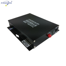 2ch fiber optical video transceiver single mode 20km