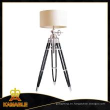 Lámpara de pie caliente del trípode de la madera y de aluminio de la venta (F715L)
