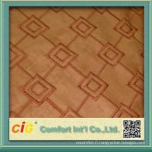 Tissu en daim stretch / tissu en daim Tissu en vinyle / tissu d'ameublement en daim