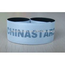 Reflective bracelet with customized logo imprint