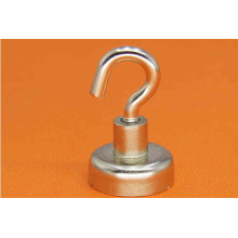 Zn Plaed Permanent NdFeB Neodymium Pot Magnets with Hook