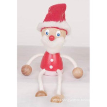 Kids Christmas Gift Decorative Wooden Santa Claus Doll