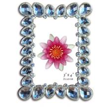 Cadre Photo de Pierre acrylique bleu transparent