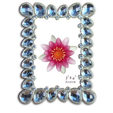 Transparente blaue Stein Acryl-Fotorahmen