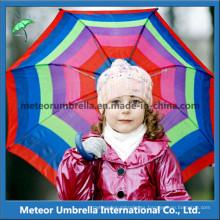 Cute Color Canopy tamaño pequeño regalo de promoción dom y lluvia niños niños paraguas artículos de lujo
