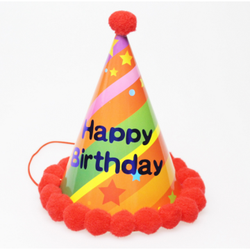 Leuke Happy Birthday Party papieren hoeden pluche Cap
