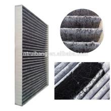 fornecimento de tecido de algodão carbono ativado / pano de filtro / tecido de filtro de ar