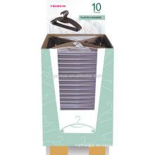 2013 ganchos plásticos de las pp de la promoción con el cartón de la exhibición