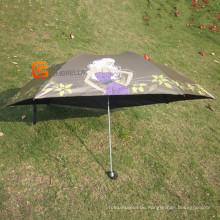 3 Falten Mini Regenschirm mit UV-Schutz (YSM0009)
