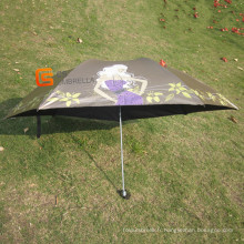 3 Pliez Mini parapluie avec Protection anti-UV (YSM0009)