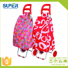 Foldable Shopping Trolley Bag with 2 Wheels (SP-543)